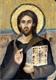 Icono del cristo Pantocrator hecho en hoja de oro por Yoyita