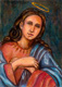 la magnifica, Virgen Maria pintura en oleo