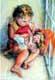 子供や人形、Yoyitaによってミニチュア肖像画の油絵