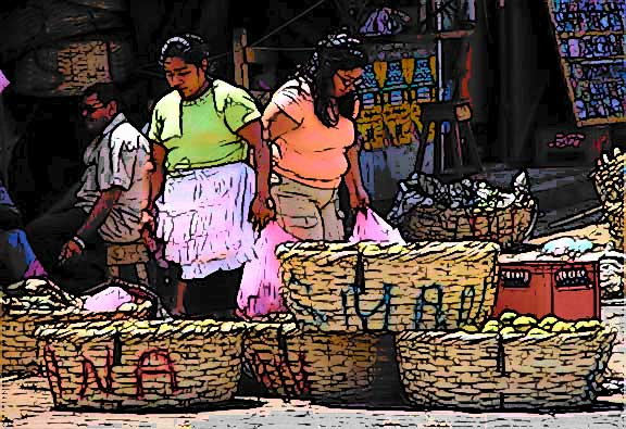 Nicaraguan market © Dr. Gloria  M. Norris Yoyita