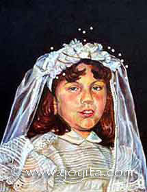 First Communion Oil painting © Dr. Gloria  M. Norris Yoyita