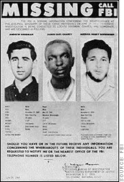 FBI poster missing Chaney Goodman Schwerner