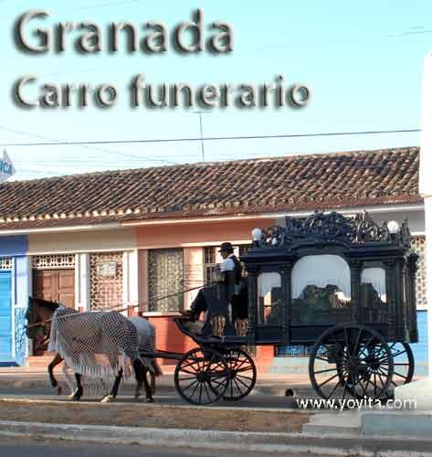 funerary car Granada Nicaragua