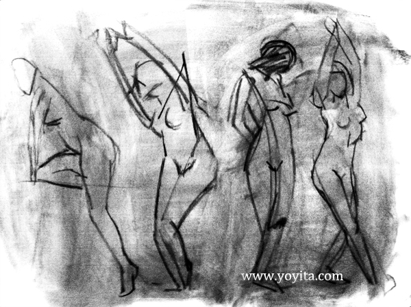 Gesture drawing, Atelier Yoyita Art Gallery classical