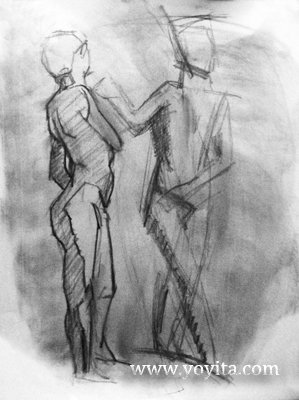 female male gesture drawing Atelier Yoyita