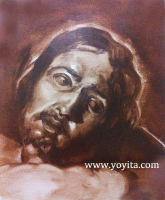 Jesus Grisaille after Velazquez Atelier Yoyita
