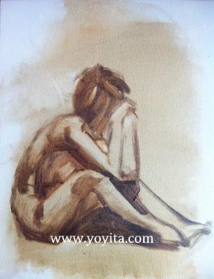 Sorrow grissaille Atelier Yoyita