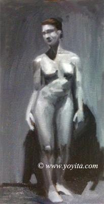 standing female grissaille Atelier Yoyita