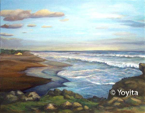 Pinturas de Nicaragua playa © Yoyita