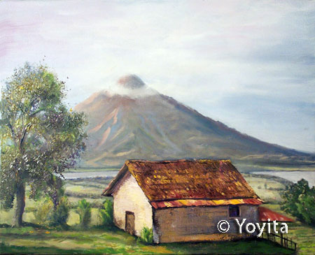 Pinturas de Nicaragua Volcan Concepcion Altagracia Ometepe Island Nicaragua © Yoyita