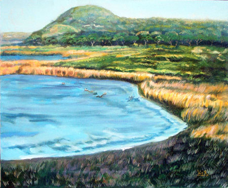 Beach marine art oil painting © Yoyita