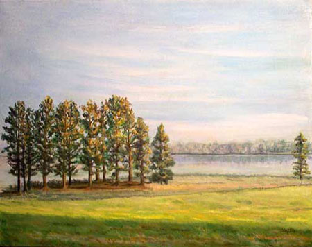 Natchez Trace marine art oil painting © Yoyita