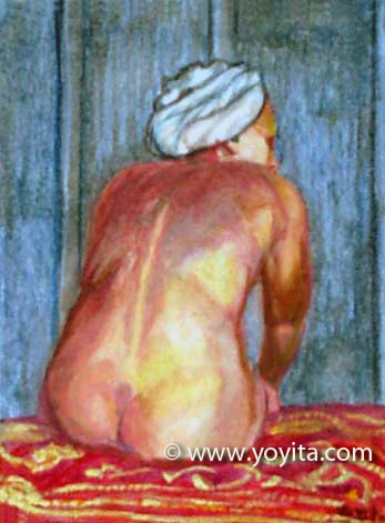 miniature nude painting  Dr. Gloria  M. Norris Yoyita