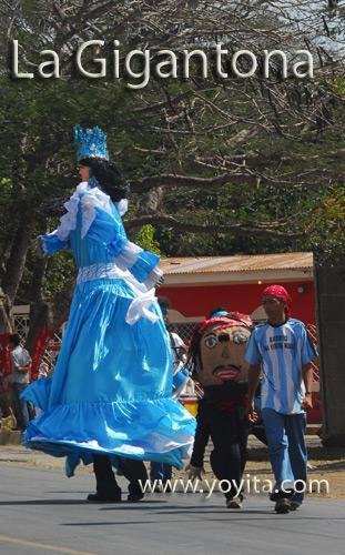 La gigantona bailes nicaraguenses