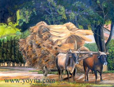 Yunta de bueyes Nicaragua Atelier Yoyita