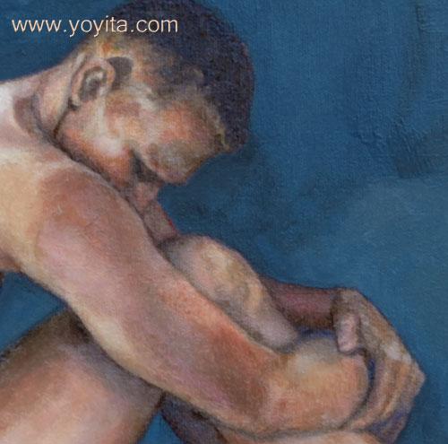Adam detail painting © Dr. Gloria  M. Norris