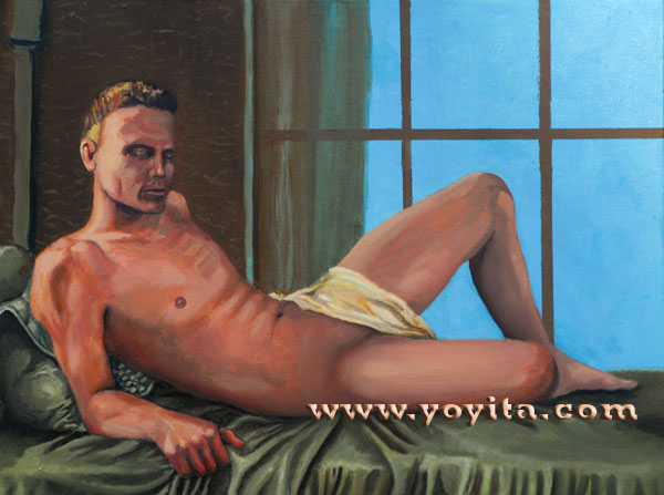 reclining male nude © Dr. Gloria  M. Norris
