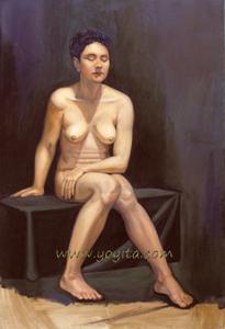 European nude model © Dra. Gloria M. Sanchez Zeledon de Norris Yoyita