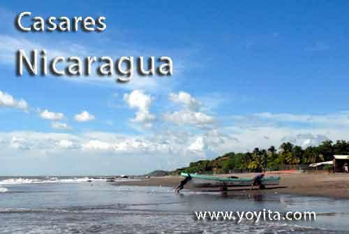 Fischer am Casares Strand, Nicaragua
