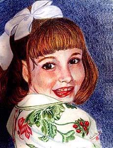肖像画 of Mallorie © Dr. Gloria  M. Norris yoyita