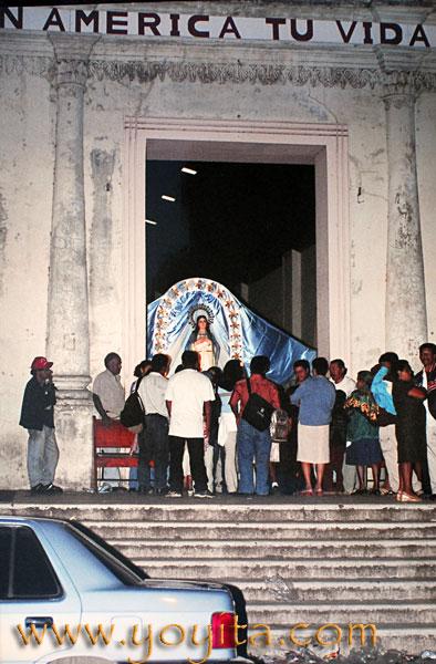 altar Purisima La Griteria 7 de Diciembre Parroquia de Jinotepe