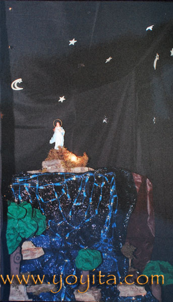 altar Purisima La Griteria 7 de Diciembre