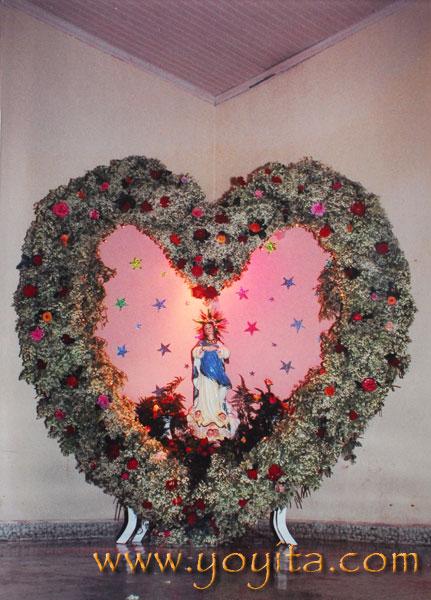 Altar de La purisima de la familia Sanchez Zeledon La Griteria 7 de Diciembre