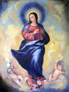 Immaculate Conception of Mary oil painting