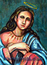 Holy Mary  oil painting