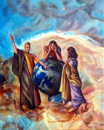El reino de Dios discutiendo el reto de la paz en la tierra © Dr Gloria  M Norris Yoyita