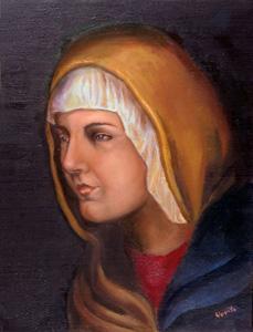 Madonna Renaissance Style Portrait Fine Art Classical