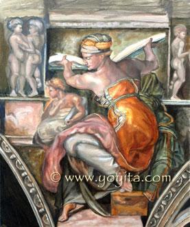 Libyan Sibyl renaissance oil painting