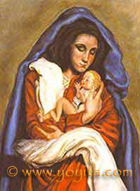 virgin and child oil painting