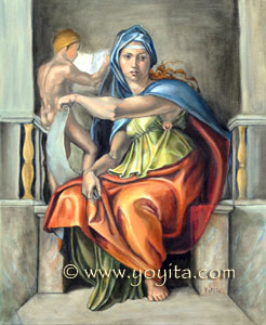 Delphic Sibyl renaissance oil painting