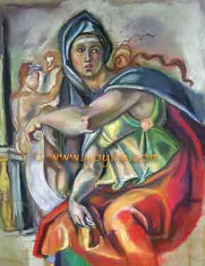 Delphic Sybil © Dr. Gloria  M. Norris Yoyita  Old Masters, Michael Angel