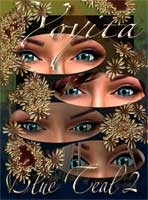 Blue Teal 2 Eyes for Avatars in secondlife