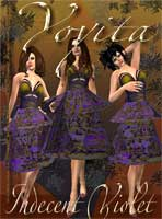 Indecent Violet dress for secondlife