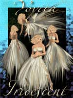 Iridescent gown for dancing Avatars