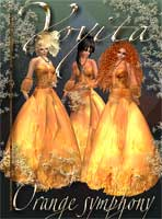 Orange Symphony gown clothes