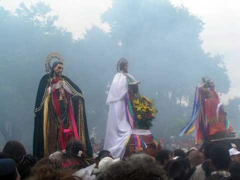 fiestas de Santiago apostol, el tope de los Santos