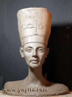 Nofretete Büste Skulptur Yoyita
