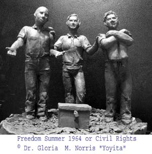 Civil Rights sculpture © Dr. Gloria  M. Norris Yoyita