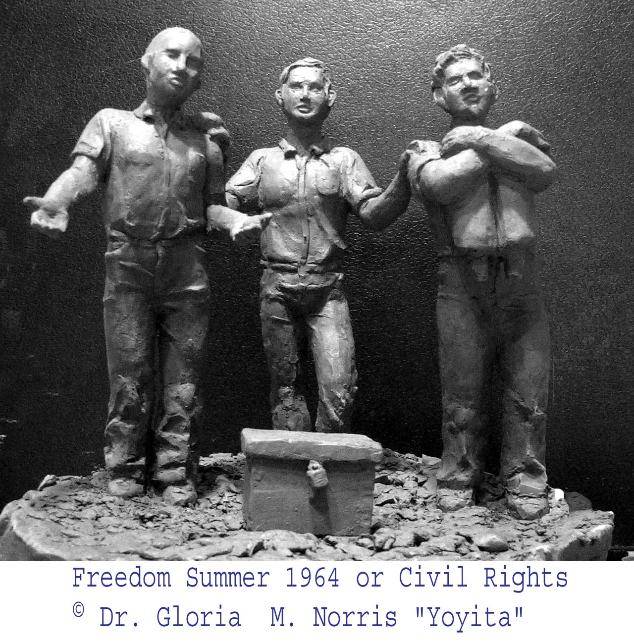Civil rights sculpture � Dr. Gloria  M. Norris