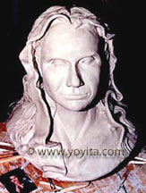 portrait bust head of Gaby © Dr. Gloria  M. Norris Yoyita
