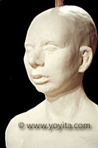 King Tutankhamen reproduction of forensic facial reconstruction