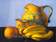 still life jug and fruits oil painting classical art by Yoyita, Nicaragua, Costa Rica, Maui, Hawaii, Puerto Rico