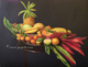 fruits tropicals, oil painting still life art by Yoyita, Nicaragua, Costa Rica, Maui, Hawaii, Puerto Rico