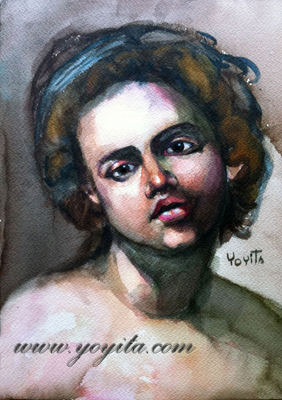 Italian face watercolor