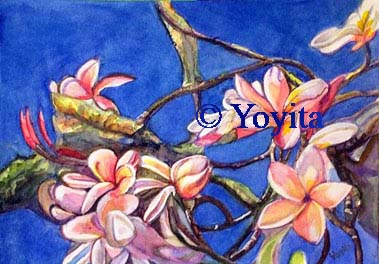 Watercolor still life © Dr. Gloria  M. Norris Yoyita