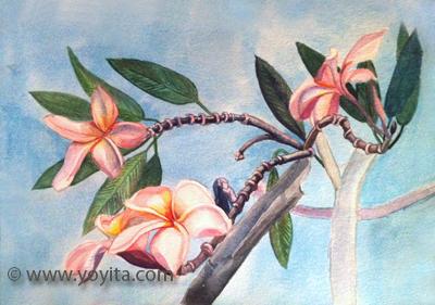 sacuanjoche en flor acuarela por Yoyita